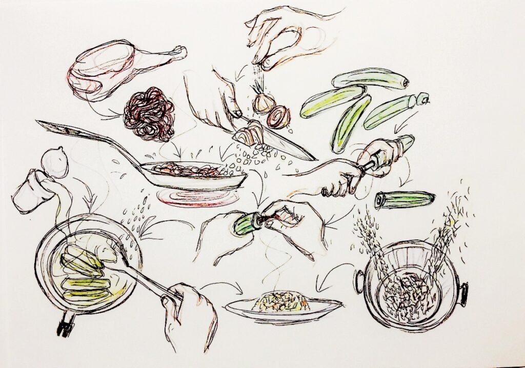 Zeichnung von Eugenia Loginova