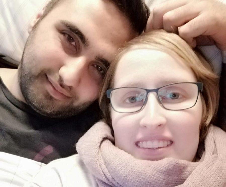 Das glückliche deutsch-syrische Paar. Foto: Anja Riesenberg