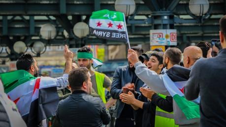 Syrische Demonstration in Hamburg Foot: Nasser Alzayed