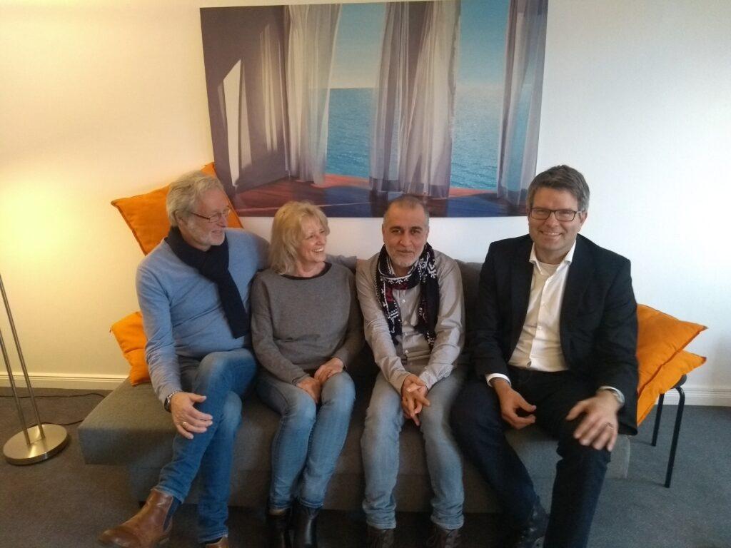 """Die Tandem-""""Familie"""". Foto: Rose-Marie Hoffmann-Riem"""