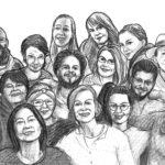 Das Team das Flüchtling-Magazins. Illustration: