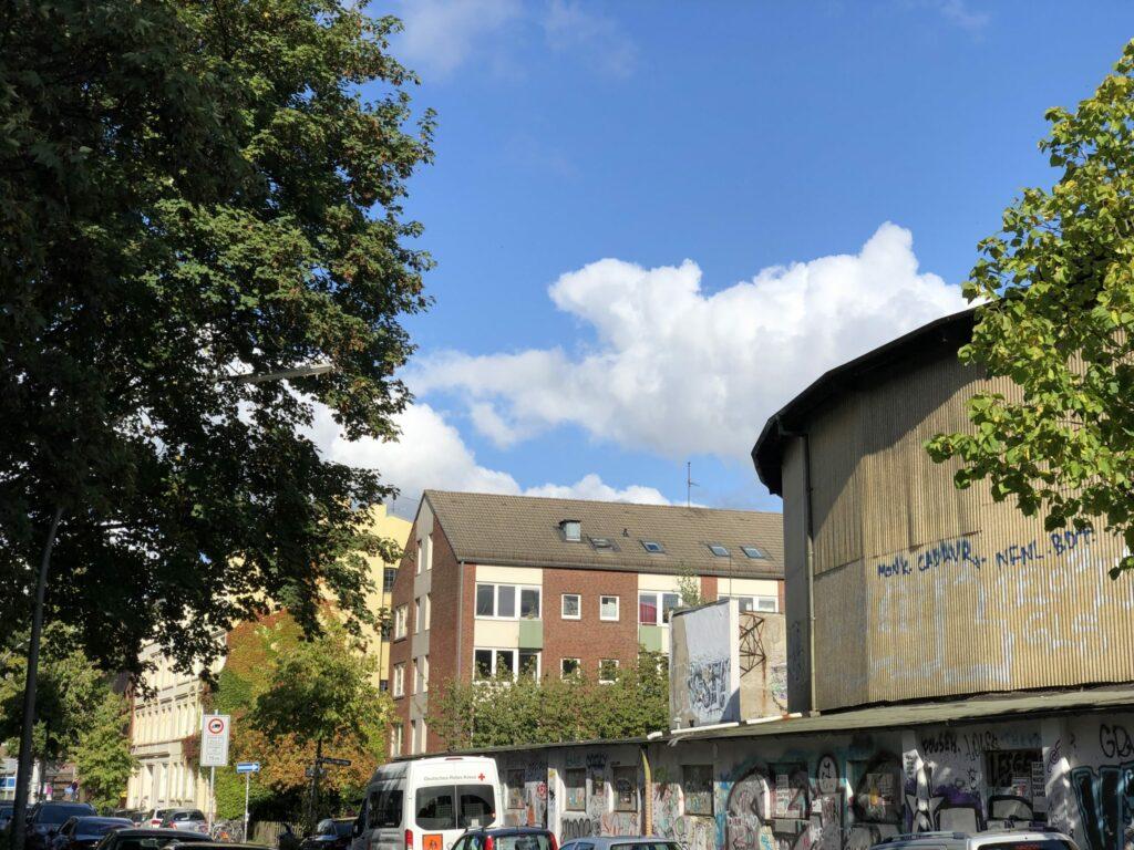 Eine Gebäude in Hamburg. Foto: Hussam Al Zaher.