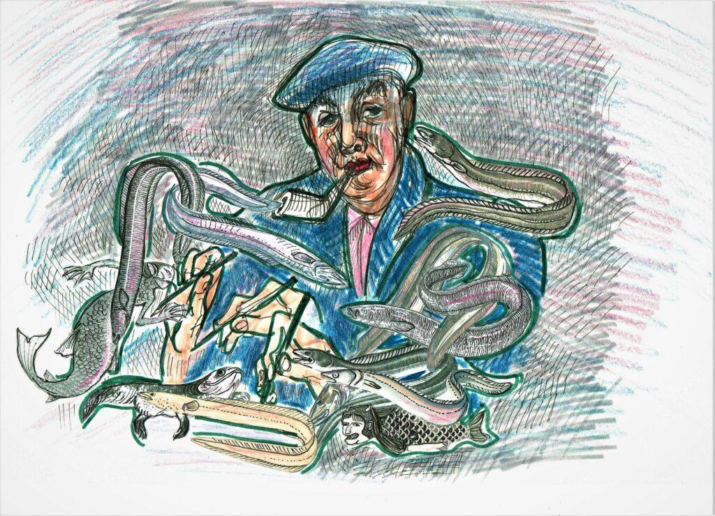 Pablo Neruda Seeaalsuppe. Bild von Eugenia Loginova.