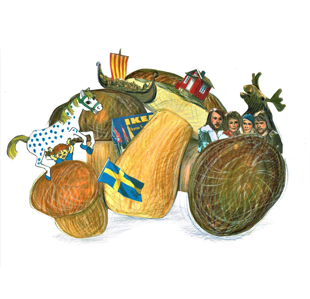Zuckerkuchen. Illustration: Eugenia Longinova.
