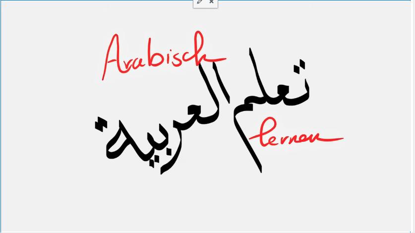 Arabische lernen. Privat
