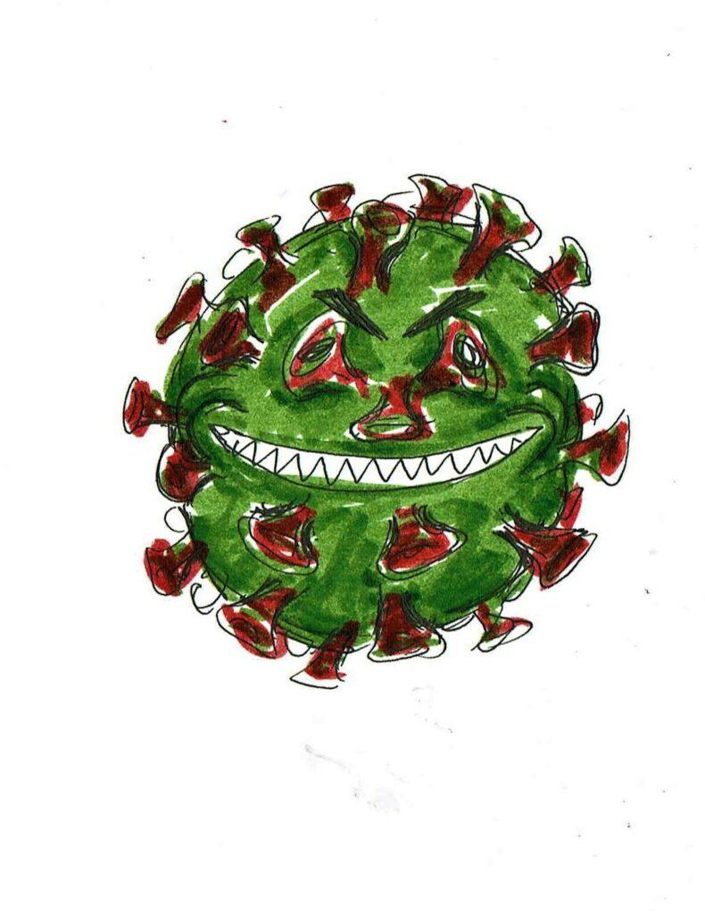 Coronavirus. Zeichnungen: Eugenia Loginova