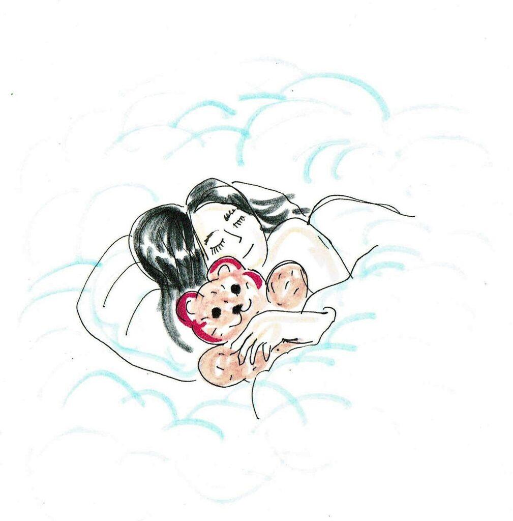 Warteschlange. Zeichnungen: Eugenia Loginova