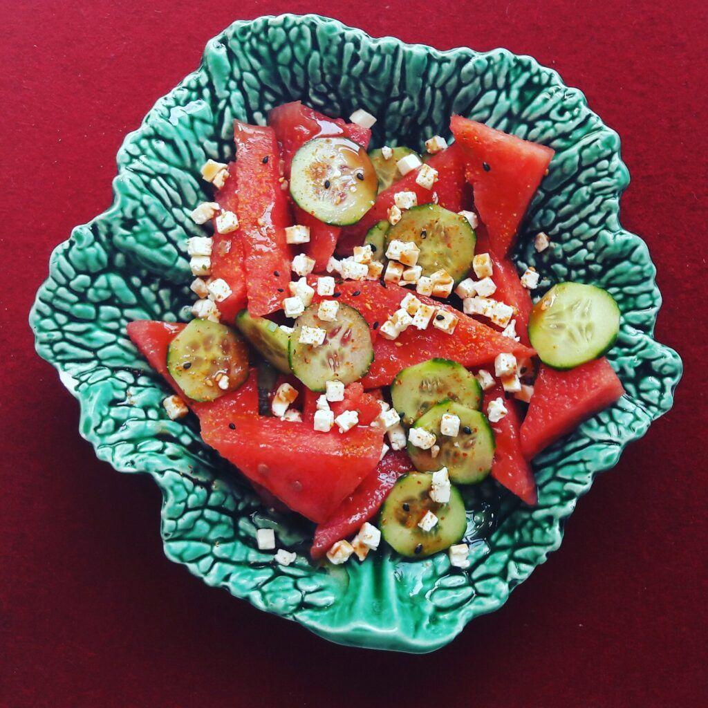 Wassermelone-Gurken-Chili-Salat