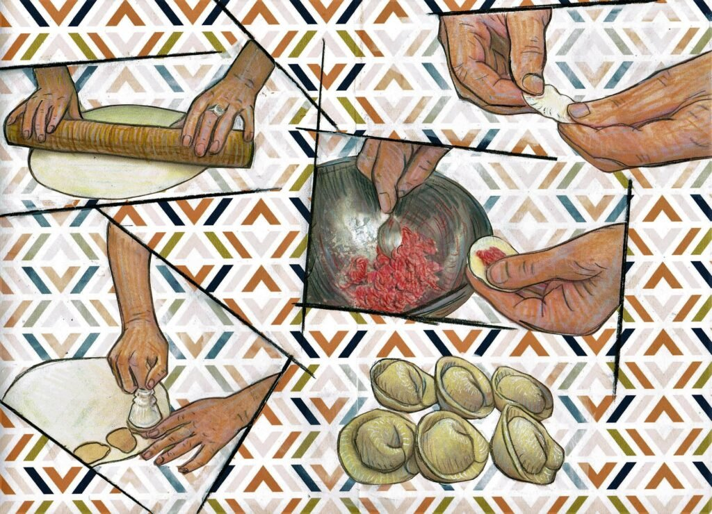 Sibirische Teigtaschen Pelmeni