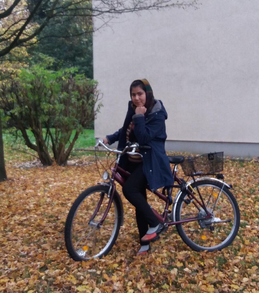 Freiheit mit Fahrrad fahren.