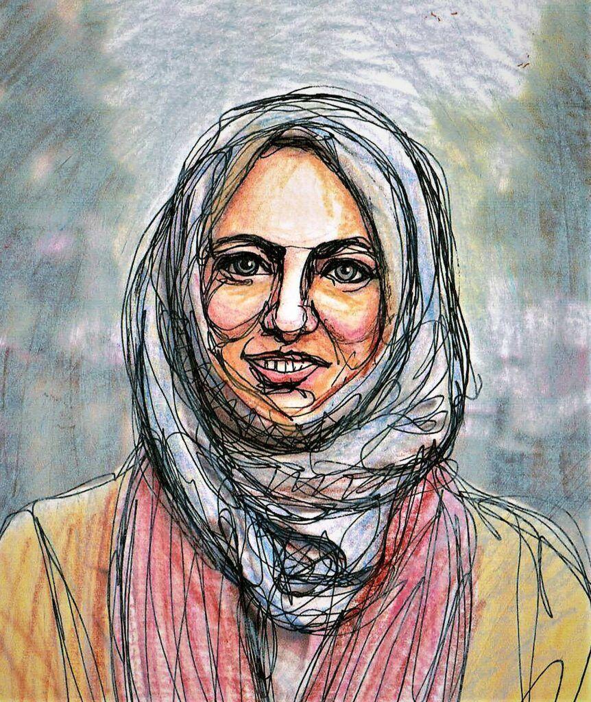 Khola Maryam Zeichnung von Eugenia Loginova