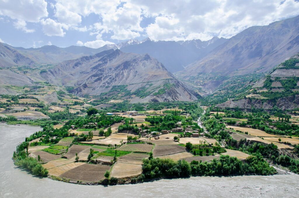 Afghanistan from the Pamir highway