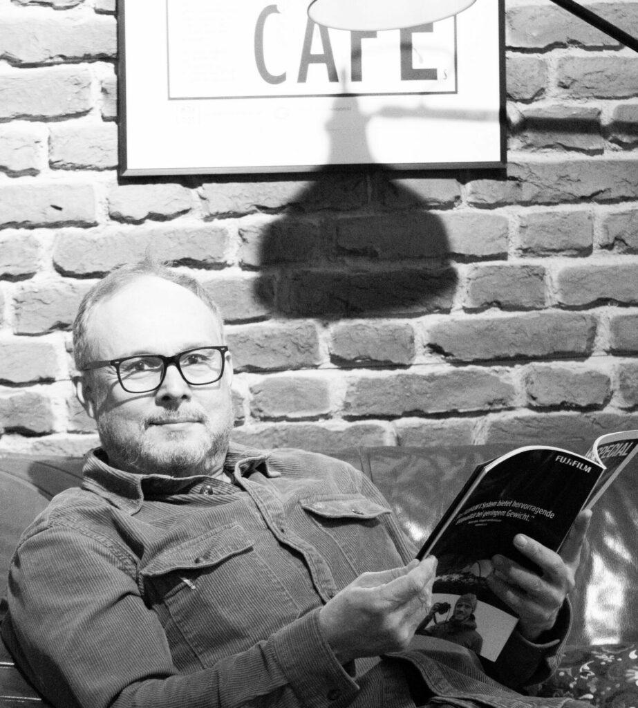 Glen Ganz, Geschäftsführer und Gründer des why not Café Ottensen