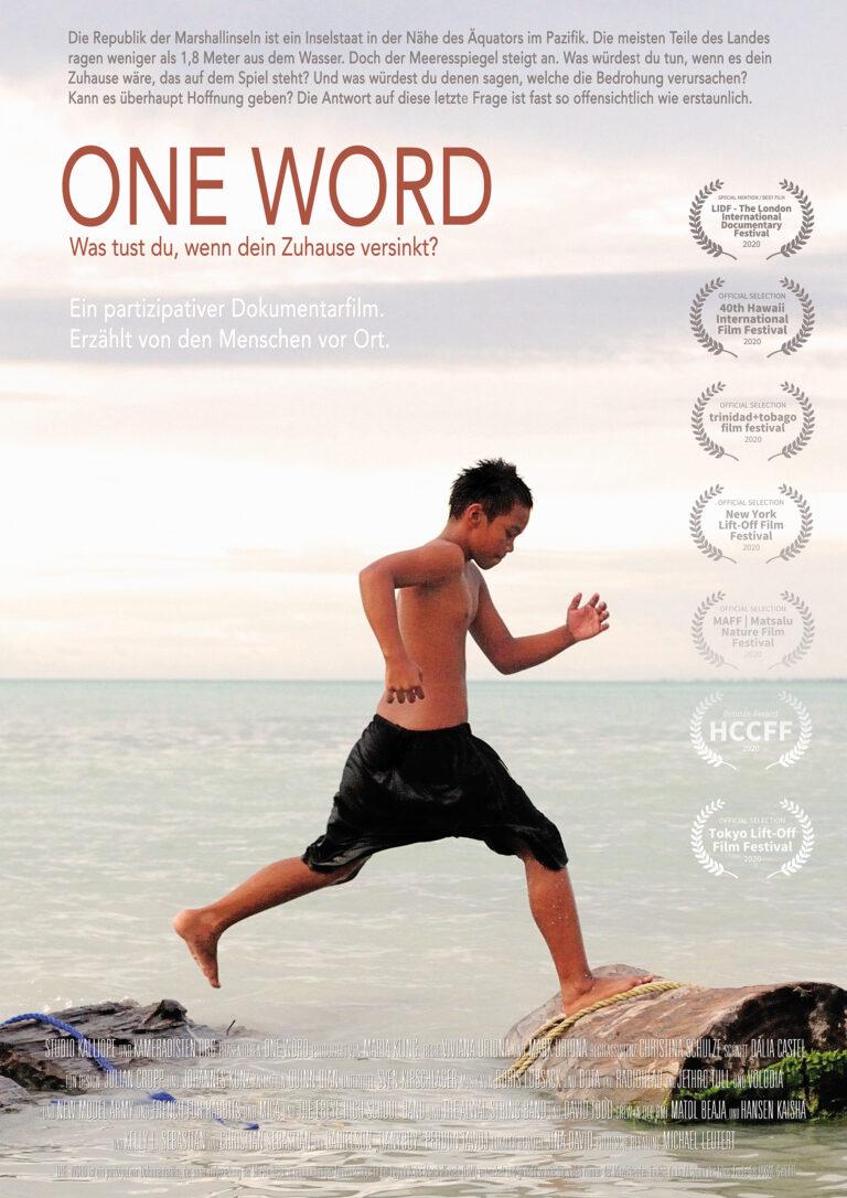 Filmplakat ONE WORD, Film über den Klimawandel