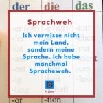 Erste Post auf Instagram über Sprachweham 11.4.2019